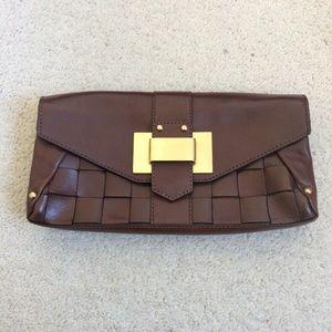 Banana Republic Leather Envelope Clutch NWOT